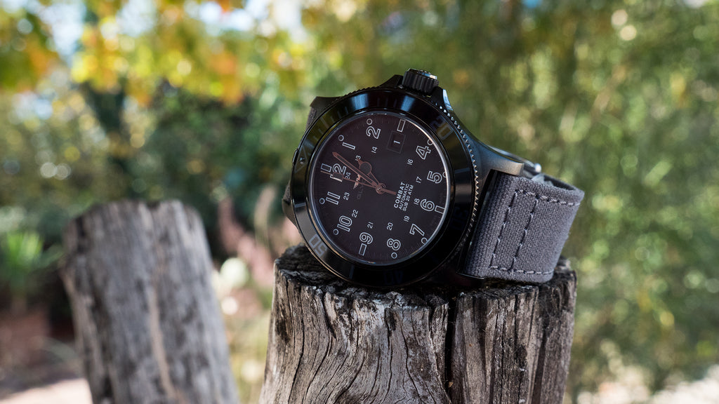 Glycine Combat Automatic + 22mm Smoke Canvas quick release strap