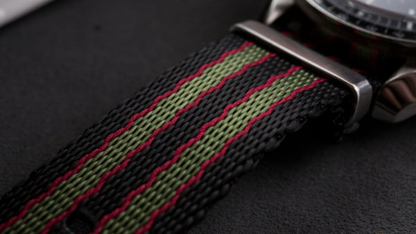 Classic Bond Jetson NATO strap close up