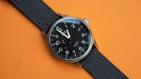 Oris on Smoke Grey Canvas