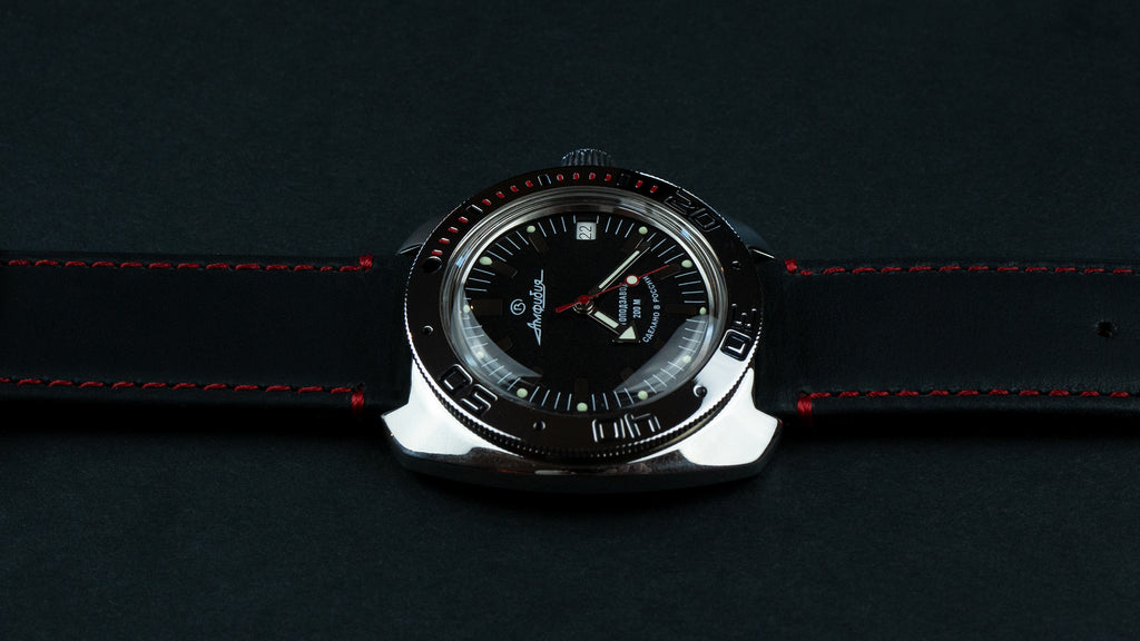 Black Leather / Red Stitching
