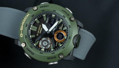 Barton Watch Bands Elite Silicone Grey with G-Shock GA2000