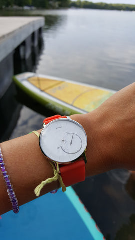 Withings Activité & Roarange 18mm quick release strap.