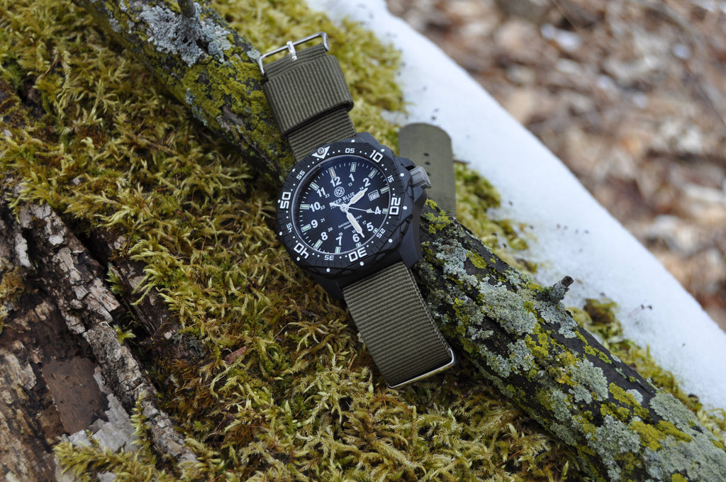 Deep Blue Diving watch on Army Green NATO