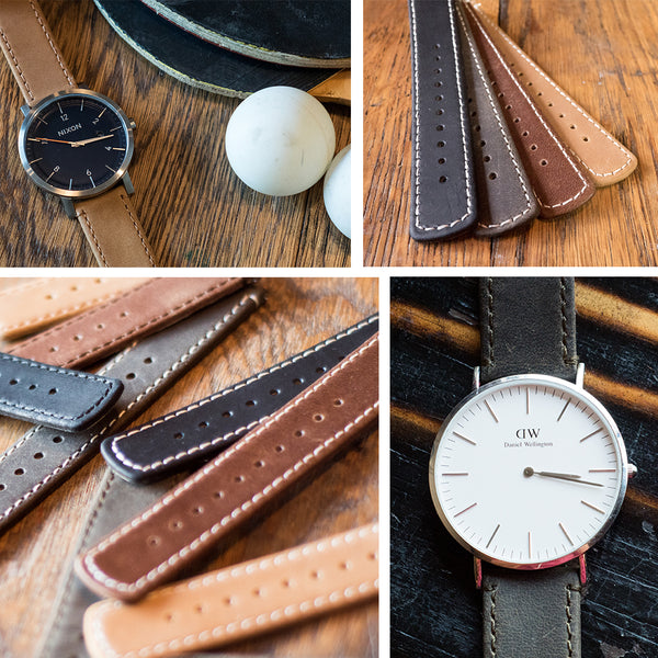 Barton Watch Bands Leather Quick Release strap