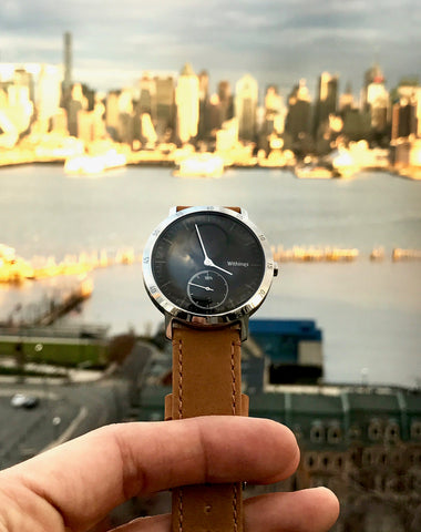 Withings Steel HR + 20mm Gingerbread Leather strap.