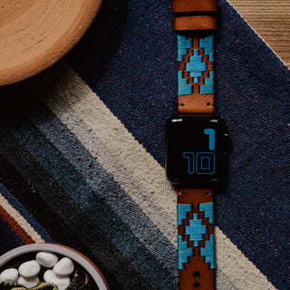 Load image into Gallery viewer, Apple Watch | Gaucho | Turquoise & Sky Blue