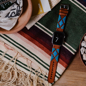 Apple Watch | Gaucho | Turquoise & Sky Blue - Barton Watch Bands