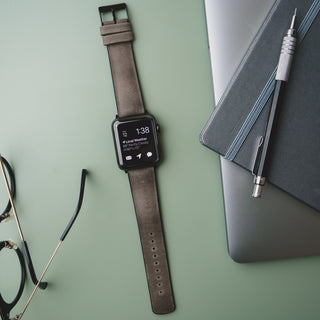Load image into Gallery viewer, Apple Watch | Smoke Leather and Rubber Hybrid