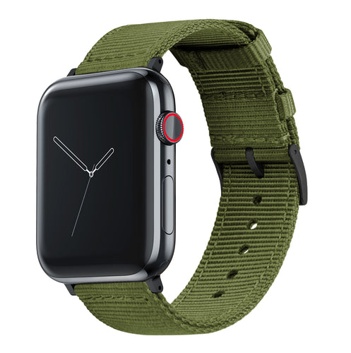 Apple Watch | Two-piece NATO Style | Army Green - Barton Watch Bands