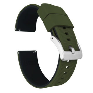 Load image into Gallery viewer, Fossil Sport | Elite Silicone | Army Green Top / Black Bottom - Barton Watch Bands