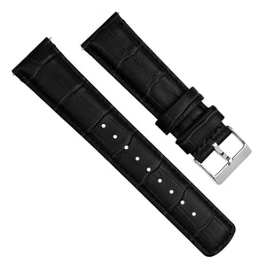 Samsung Galaxy Watch3 | Black Alligator Grain Leather - Barton Watch Bands