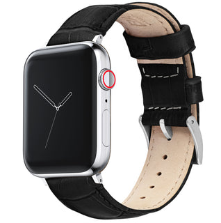 Load image into Gallery viewer, Apple Watch | Black Alligator Grain Leather - Barton Watch Bands