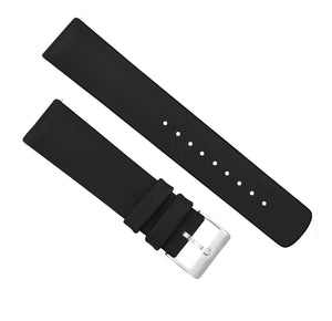 Gear Sport | Leather and Rubber Hybrid | Black - Barton Watch Bands