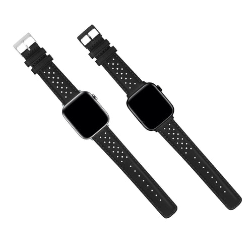 Apple Watch | Black Racing Horween Leather - Barton Watch Bands