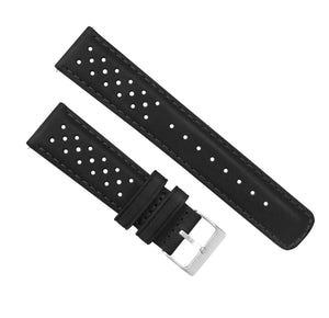 Fossil Sport | Racing Horween Leather | Black - Barton Watch Bands