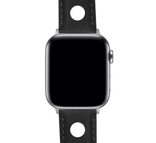 Load image into Gallery viewer, Apple Watch | Black Rally Horween Leather - Barton Watch Bands