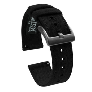 Load image into Gallery viewer, Black | Crafted Canvas - Barton Watch Bands