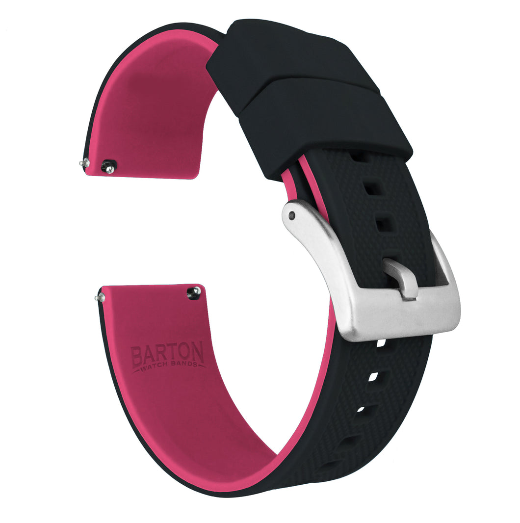Fossil Sport | Elite Silicone | Black Top / Pink Bottom