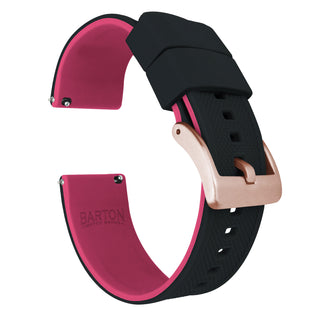 Load image into Gallery viewer, Fossil Sport | Elite Silicone | Black Top / Pink Bottom