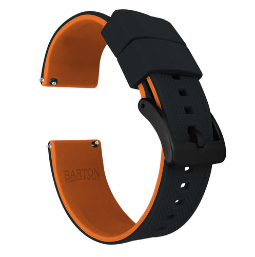 Fossil Sport | Elite Silicone | Black Top / Pumpkin Orange Bottom