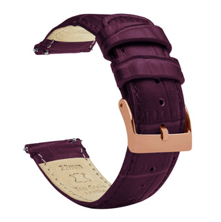 Load image into Gallery viewer, Merlot | Alligator Grain Leather - Barton Watch Bands