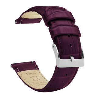 Load image into Gallery viewer, Merlot | Alligator Grain Leather