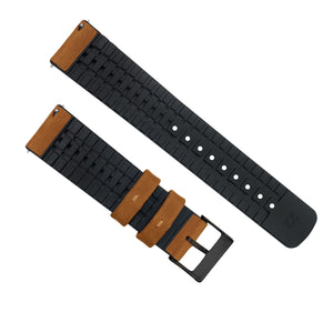 Gear S2 Classic | Leather and Rubber Hybrid | Cedar Brown - Barton Watch Bands