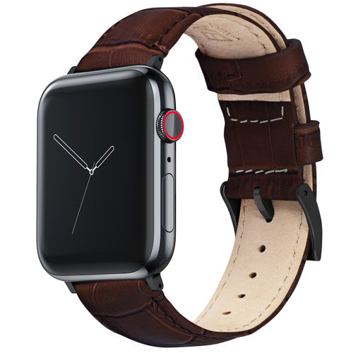 Apple Watch | Coffee Brown Alligator Grain Leather