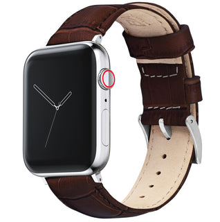 Load image into Gallery viewer, Apple Watch | Coffee Brown Alligator Grain Leather - Barton Watch Bands