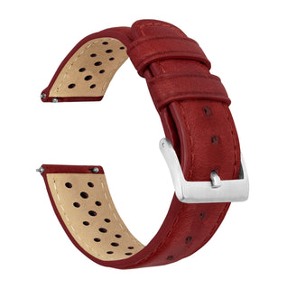 Load image into Gallery viewer, Crimson Red | Racing Horween Leather - Barton Watch Bands