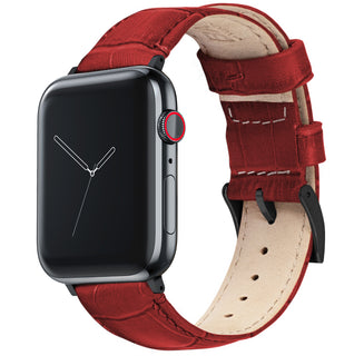 Load image into Gallery viewer, Apple Watch |  Red Alligator Grain Leather