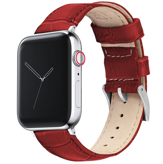 Apple Watch |  Red Alligator Grain Leather