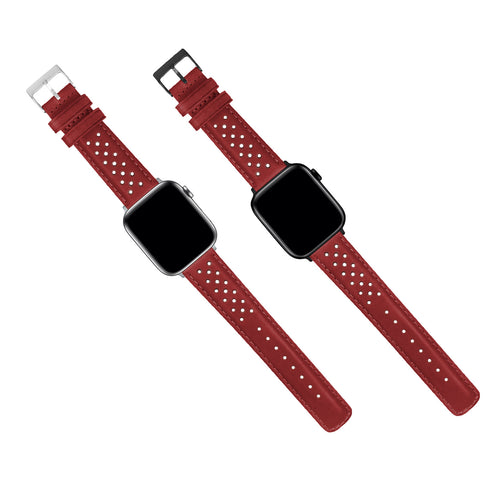 Apple Watch | Crimson Red Racing Horween Leather - Barton Watch Bands