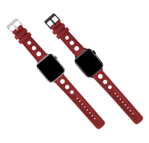 Apple Watch | Crimson Red Rally Horween Leather - Barton Watch Bands