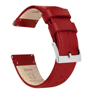 Mobvoi TicWatch | Red Leather &  Stitching