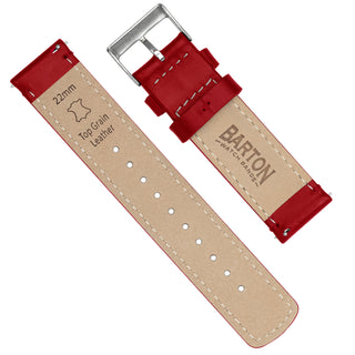 Load image into Gallery viewer, Gear S2 Classic | Red Leather &  Stitching - Barton Watch Bands