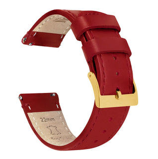 Load image into Gallery viewer, Crimson Red Leather | Red Stitching - Barton Watch Bands