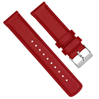 Load image into Gallery viewer, Crimson Red Leather | Red Stitching