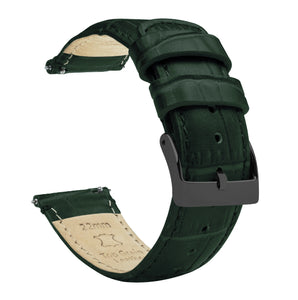 Forest Green | Alligator Grain Leather - Barton Watch Bands