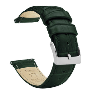 Forest Green | Alligator Grain Leather