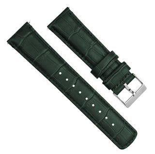 Load image into Gallery viewer, Forest Green | Alligator Grain Leather