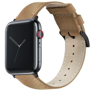 Load image into Gallery viewer, Apple Watch | Gingerbread Leather & Stitching - Barton Watch Bands