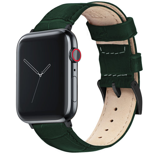 Apple Watch | Forest Green Alligator Grain Leather