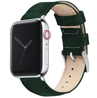 Load image into Gallery viewer, Apple Watch | Forest Green Alligator Grain Leather