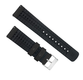 Load image into Gallery viewer, Gear Sport | Leather and Rubber Hybrid | Black - Barton Watch Bands