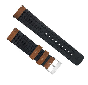 Withings Nokia Activité  and Steel HR | Leather and Rubber Hybrid | Oak Brown - Barton Watch Bands