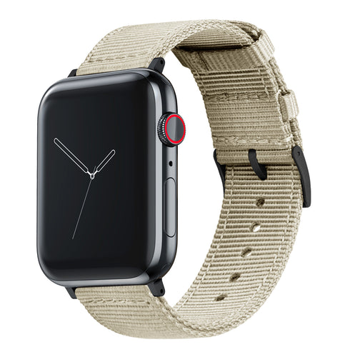 Apple Watch | Two-piece NATO Style | Khaki Tan - Barton Watch Bands