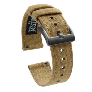 Load image into Gallery viewer, Khaki | Crafted Canvas - Barton Watch Bands