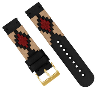 Load image into Gallery viewer, Khaki & Crimson | Gaucho - Barton Watch Bands