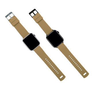 Load image into Gallery viewer, Apple Watch | Elite Silicone | Khaki Tan Top / Black Bottom